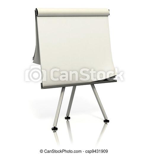 blank presentation board - csp9431909