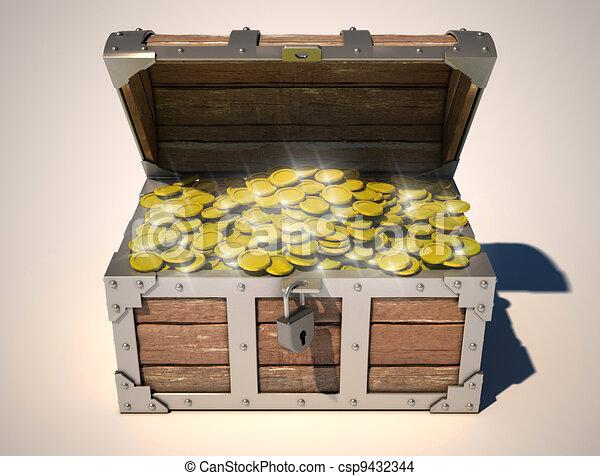 treasure chest - csp9432344