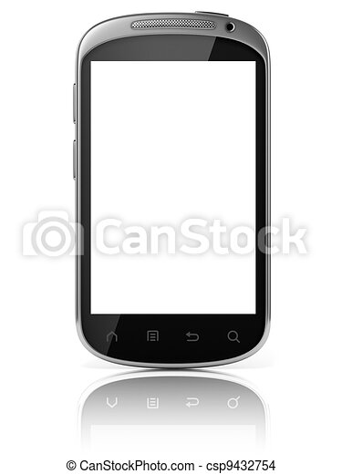 smart phone isolated - csp9432754