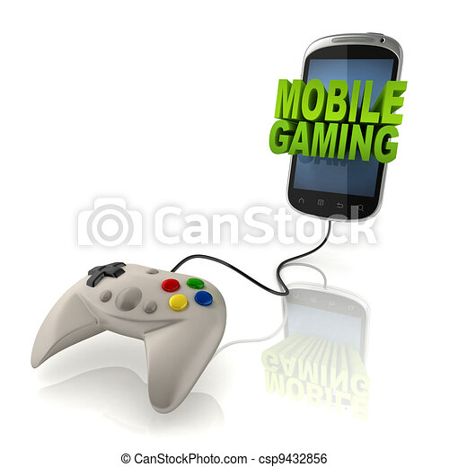 mobile gaming 3d concept   - csp9432856