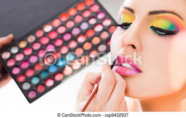 make-up lipstick - csp9432937