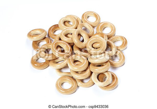 Culinary product Bagels. Isolated on a white background - csp9433036