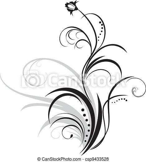 Vector de floral decoraci n puntilla elemento - Dibujos de decoracion ...