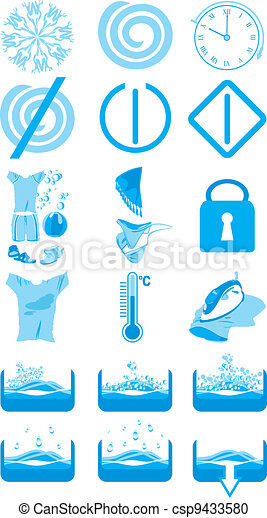 Icons for washing machine - csp9433580