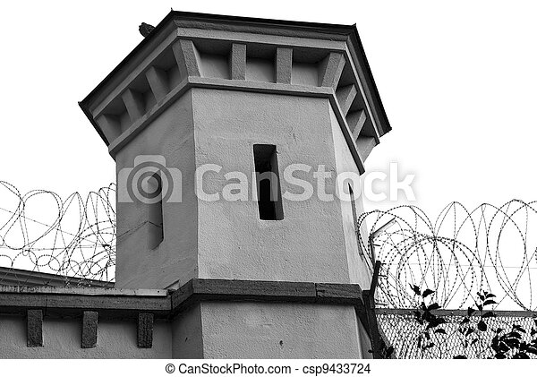 Watchtower at jail  - csp9433724