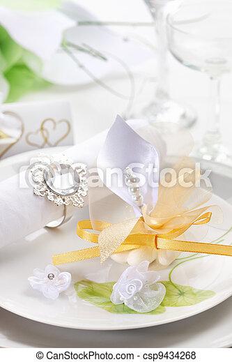 Wedding place setting - csp9434268
