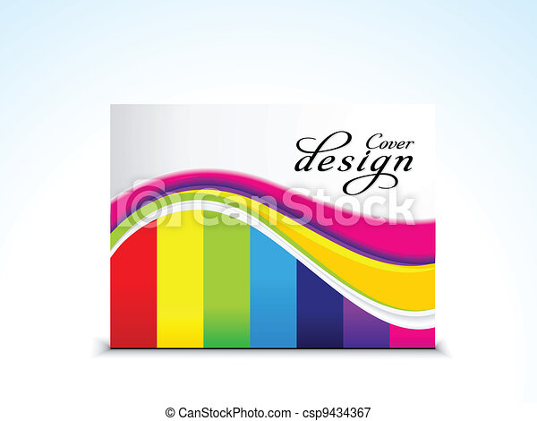 abstract colorful  cover design - csp9434367