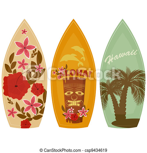 Surfboards isolated on white background - csp9434619