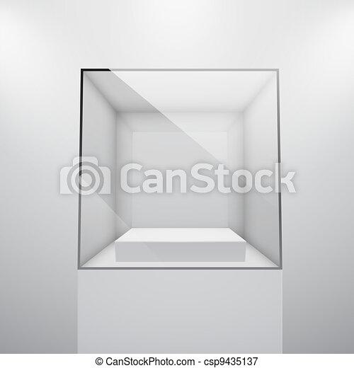 3d Empty glass showcase - csp9435137