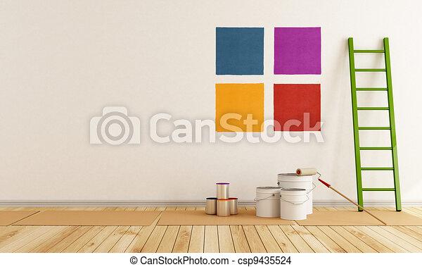 Dibujos de color pintura muestra pared selecto for Muestra colores pintura pared