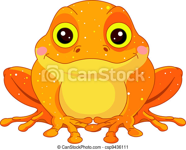 Fun zoo. Golden Toad - csp9436111
