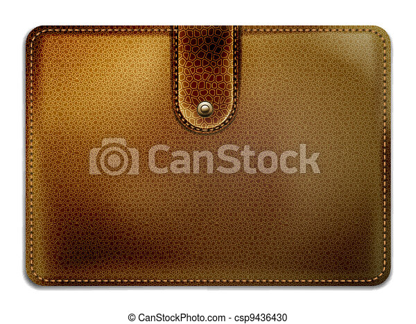 leather purse on a white background - csp9436430