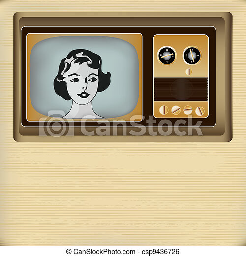 Retro Television Message Background - csp9436726