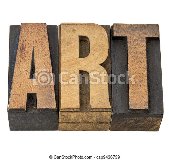 art word in wood type - csp9436739
