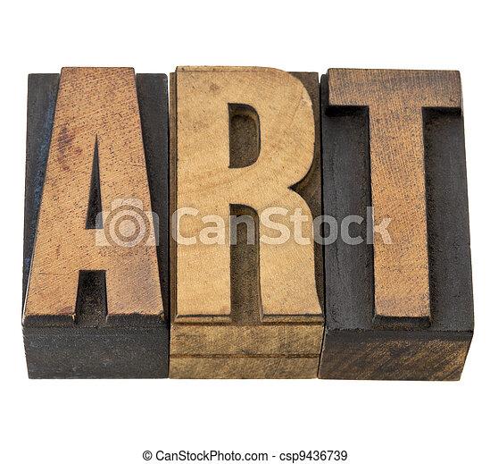 art word in wood type - csp9436739
