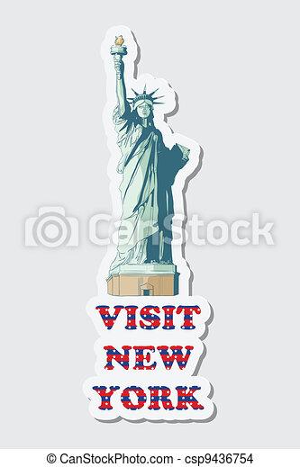 Visit New York Sticker - csp9436754