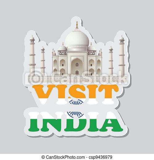 Visit India Sticker - csp9436979