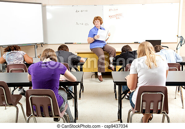 Stock Photo of Math Class - csp9437034