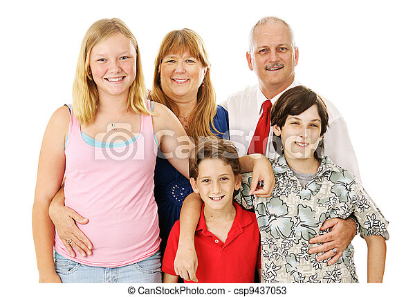 Stock Photo of Nuclear Family - csp9437053