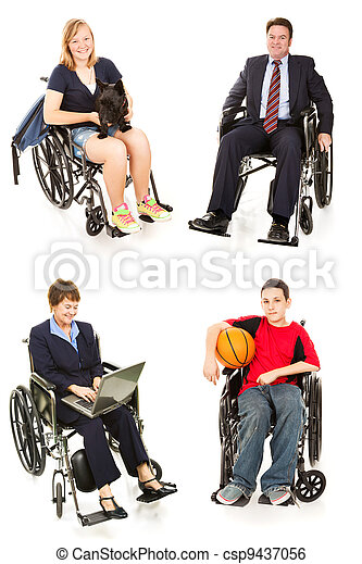 Stock Photo of Disabled People - Multiple Views - csp9437056