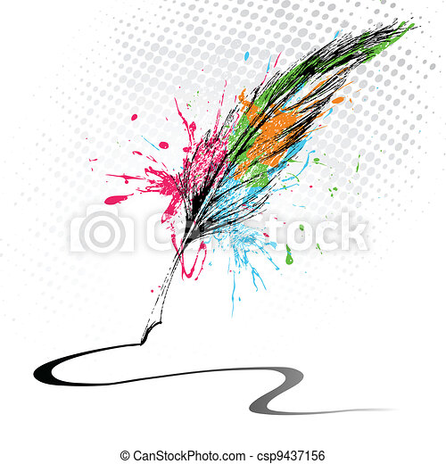 Abstract Feather - csp9437156