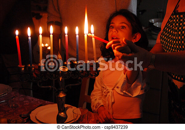 Jewish Holidays Hanukkah - csp9437239