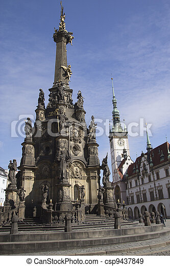 Centre of the town of Olomouc (UNESCO World Cultural Heritage) - csp9437849