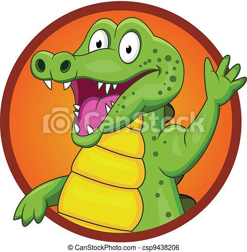 Crocodile cartoon - csp9438206