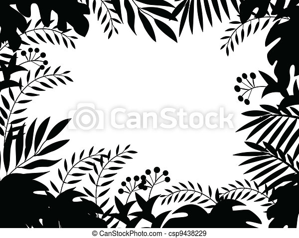 Jungle silhouette - csp9438229
