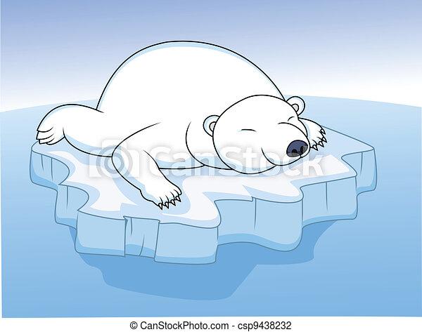 polar bear resting on an ice  - csp9438232