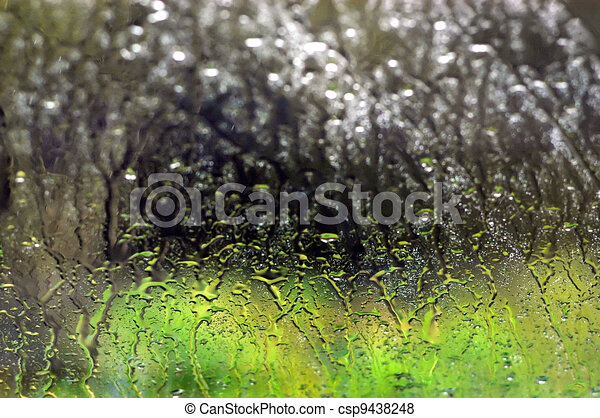Background Photos - Rain Window - csp9438248