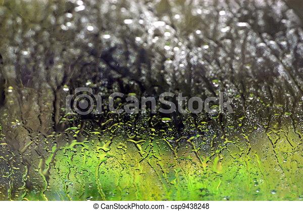 Background Photos - Rain Window - csp9438248