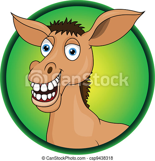 Horse/donkey cartoon  - csp9438318
