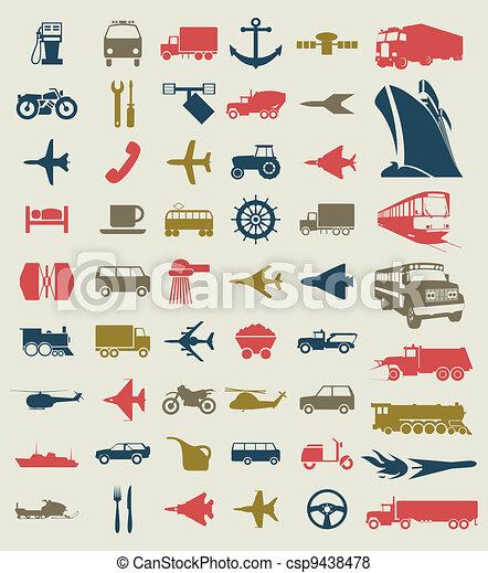 Transport icons4 - csp9438478