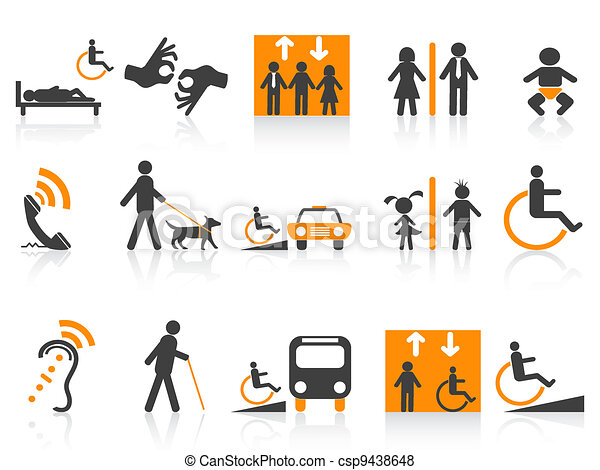 Accessibility icons set - csp9438648