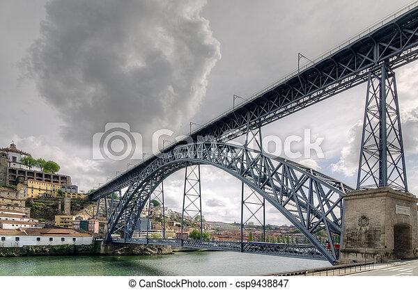 Steel bridge Ponte dom Luis - csp9438847