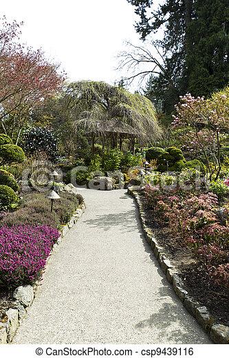 Trail to Hut in Japanese Garden - csp9439116