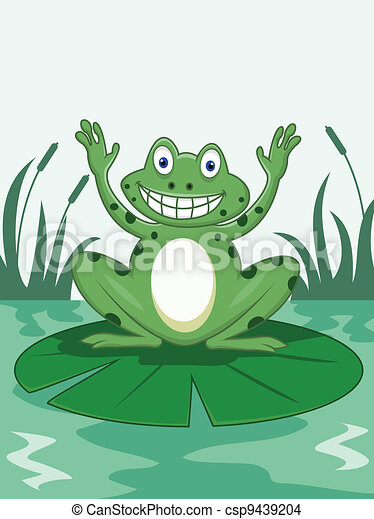Funny frog  - csp9439204