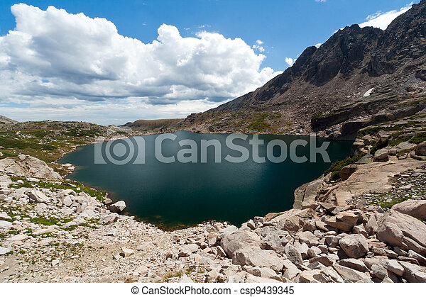 Alpine Lake in the Colorado Rocky Mountains - csp9439345