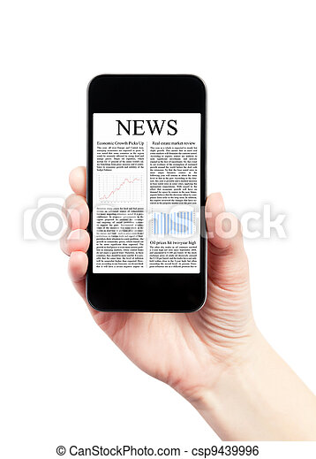 News On Mobile Smartphone - csp9439996