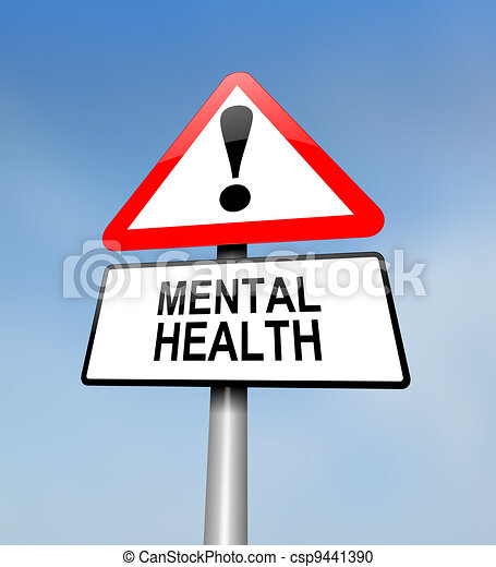 Mental health warning. - csp9441390