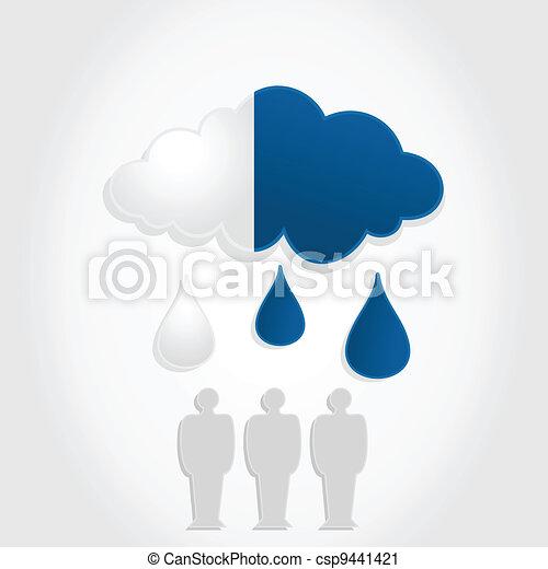 Monetary a cloud - csp9441421