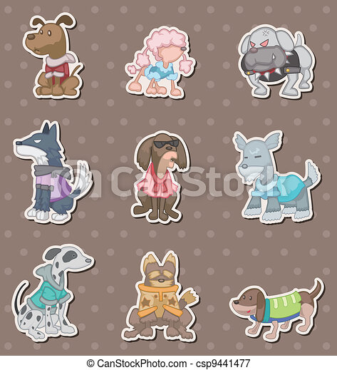 dog pet stickers - csp9441477