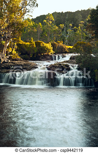 Waterfall close to Cradle Mountain Lodge - csp9442119