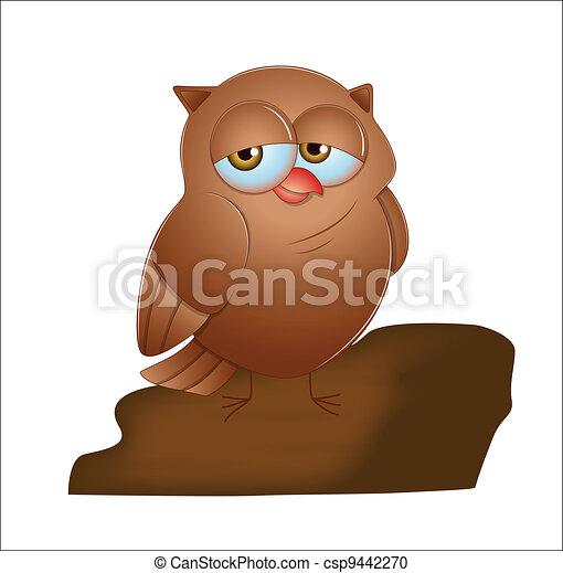 Cartoon Owl - csp9442270