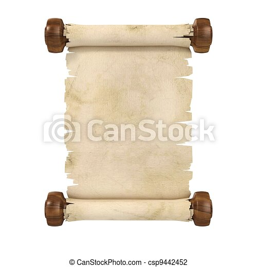 parchment scroll 3d illustration is - csp9442452