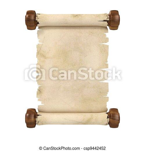 parchment scroll 3d illustration is - csp9442452