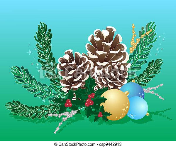 christmas arrangement - csp9442913