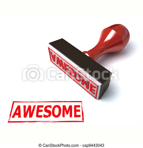 3d stamp awesome - csp9443043