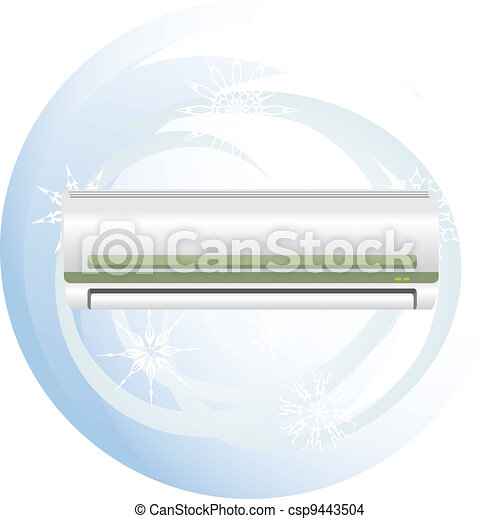 Conditioner and swirl of snowflakes - csp9443504